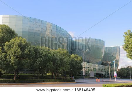 SHANGHAI CHINA - NOVEMBER 1, 2016: Shanghai Oriental Art Center. Shanghai Oriental Art Center SHOAC is one of the leading performance and cultural facilities in Shanghai.