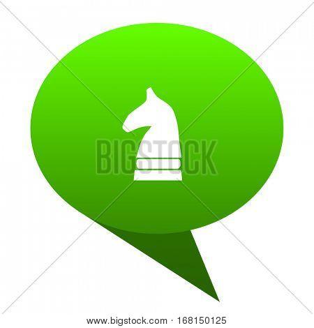 chess horse green bubble web icon