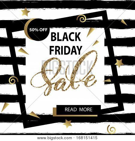 Black friday sale banner. Template Vector. EPC 10