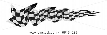 Checkered race flag vector illustration isolated on white background