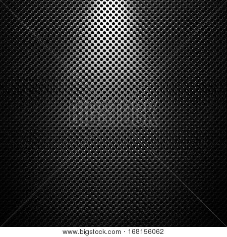 Abstract modern grey perforated metal plate textured material design for background graphic design