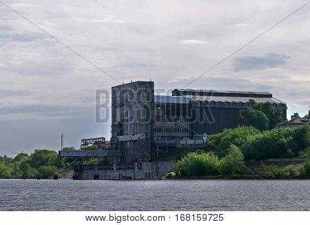 Grain Elevator On The Kama River