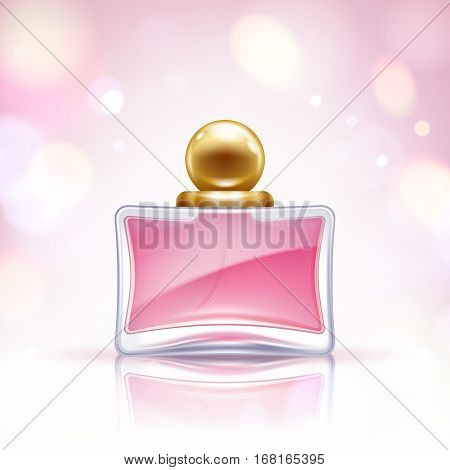 Perfume bottle vector illustration. Eau de parfum. Eau de toilette.