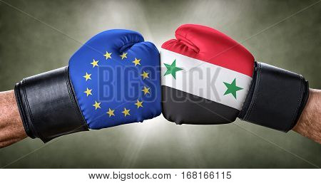 A Boxing Match Between The European Union And Syria