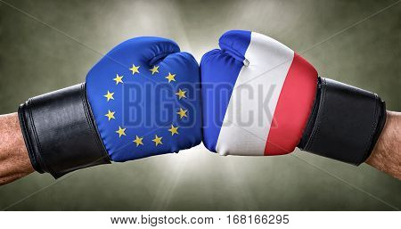 A Boxing Match Between The European Union And France