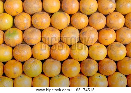 The orange fruit background in the market