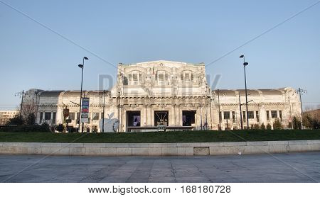 MILAN ITALY - JANUARY 26 2017: the railway station Milano Centrale considered to be one of the most beautiful stations in Europe