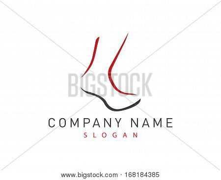 sock abstract modern logo on white background