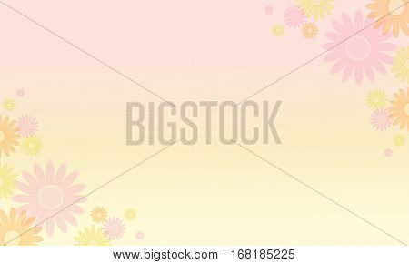 Vector illustration of flower backgrounds collection stock