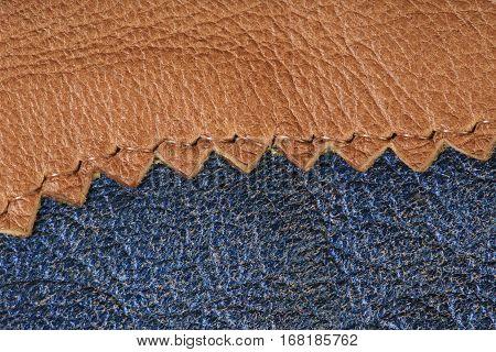 macro texture fragment beige lace leather studio