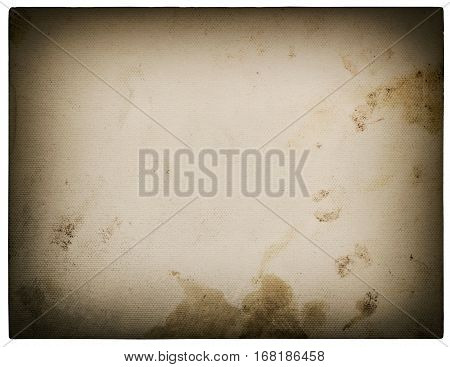 Used textured paper cardboard isolated on white background. Scrapbook object vignette