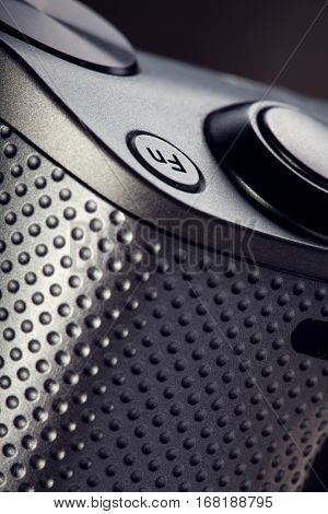 movie play Fn button on the body of modern audio-video devices