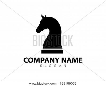 Horse chess concept design on white background