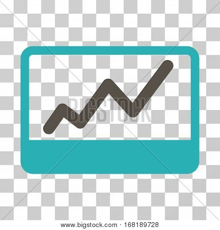 Stock Market icon. Vector illustration style is flat iconic bicolor symbol grey and cyan colors transparent background. Designed for web and software interfaces.