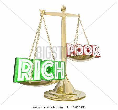 Rich Outweighs Poor Haves or Not Scale Balance Class Warfare 3d Illustration