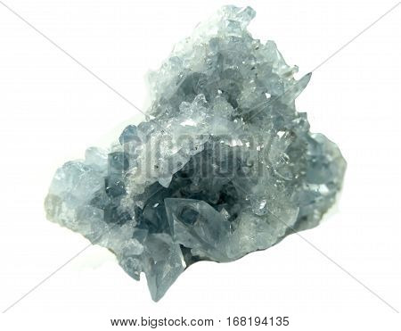 celestite semigem geode crystals geological mineral isolated