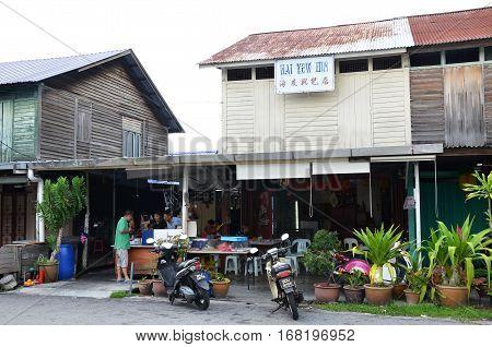 Street-side Restaurant In Tanjung Sepat, Malaysia
