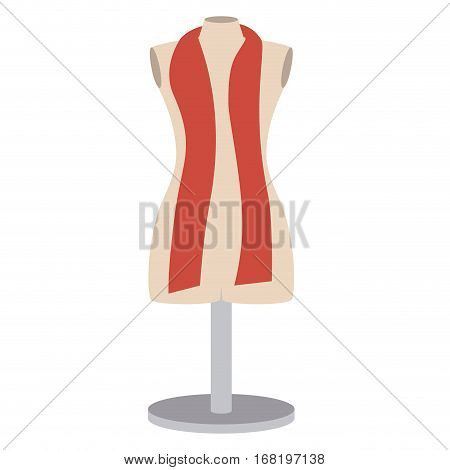 color silhouette with manikin tailor shop design vector illustration