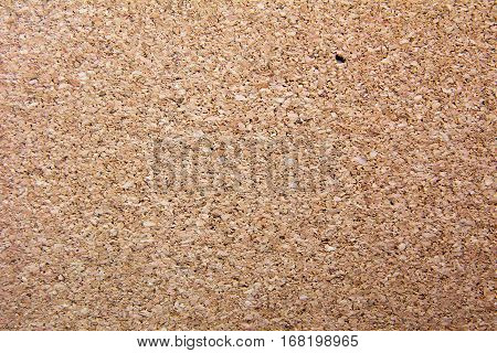 Closed up brown cork board texture background