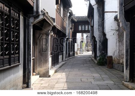 JIAXING, CHINA - FEBRUARY 20: Yuehe Hotel, Nanhu Qu, Jiaxing Shi, Zhejiang Sheng, on February 20, 2016 in Jiaxing, China.