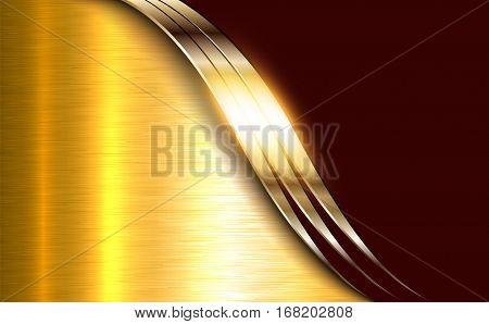 Business elegant background, golden shiny metallic.