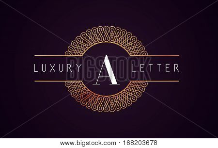 A Luxury Letter Logo. Golden Royal Luxury Letter Vector.