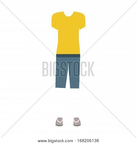 color silhouette with female clothing pijama vector illustration