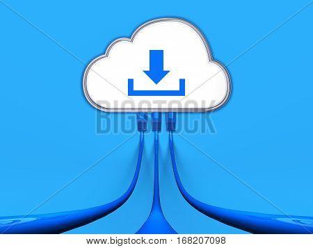 3D rendering of a cloud computing concept