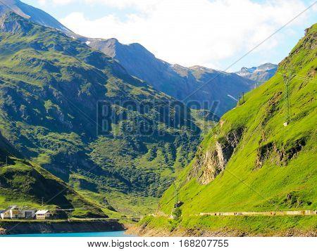 Beautiful Mountain landscape sunlit. Italian Mountains 2014