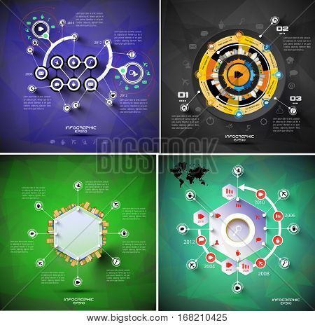Vector design of infographic templates