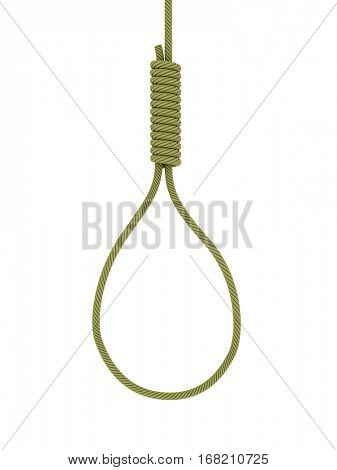 gallows on white background. Isolated 3D image.