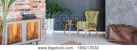 Apartment With Green Armchair