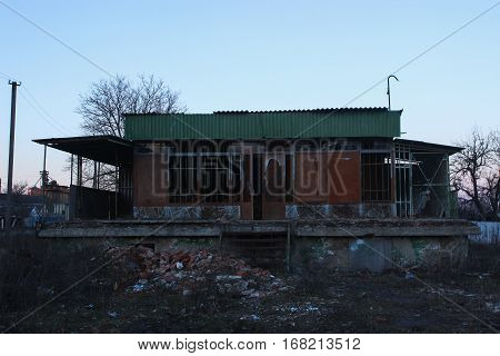 old abandoned store in a ghost town