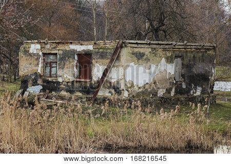 Abandoned spring house not far from the Chernobyl