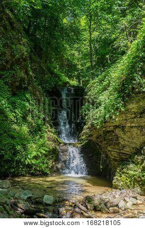 Waterfall At Mount Olympus