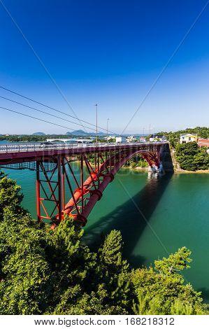 Five bridge of Amakusa Kumamoto Japan. (Amakusa Gokyo)