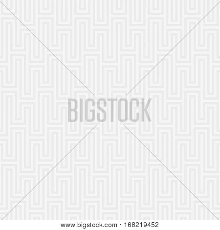 White Waveform seamless pattern.Neutral tileable linear vector background.