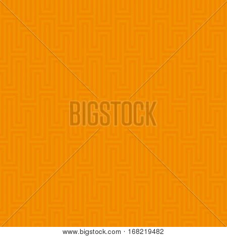 Orange Waveform seamless pattern.Neutral tileable linear vector background.