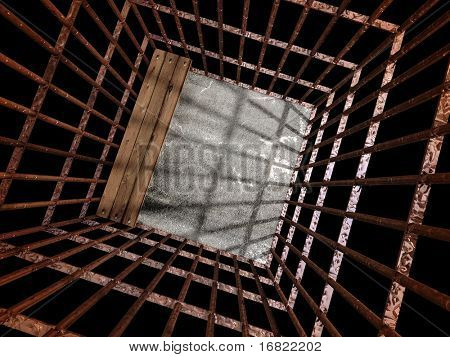 image 3d of rusty metal jail background