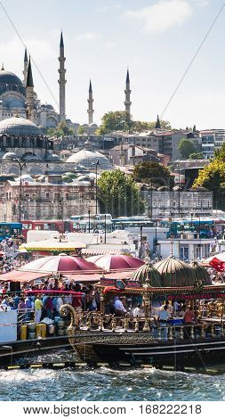 People Celebtare End Of Ramadan In Istanbul