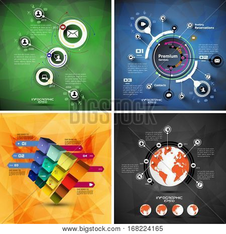 Vector of infographic
