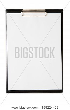 Blank writing pad or notepaper for checklist isolated on white background