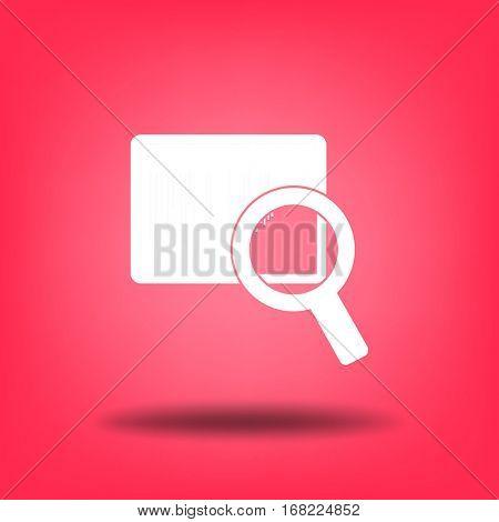 Flat icon. Loupe barcode.