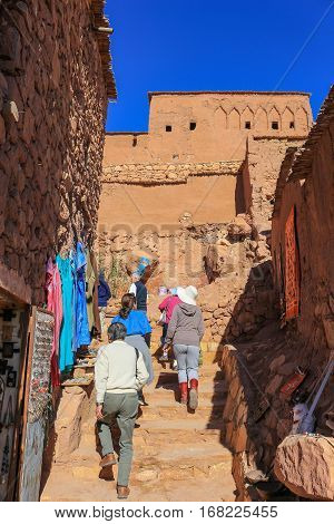 Tourists In Ait Benhaddou
