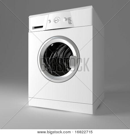 3d image of classic washing machine