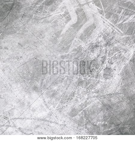 Grunge textured wall - Old grey background with copy space and scratches