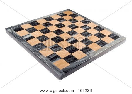 Isolated Marble Chess Board