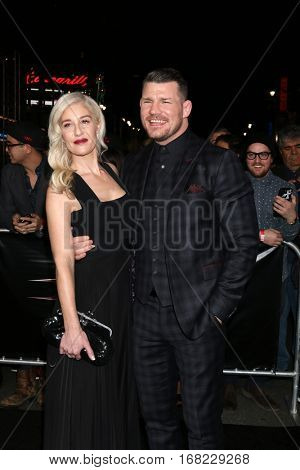 LOS ANGELES - JAN 19:  Rebecca Bisbing, Michael Bisping at the