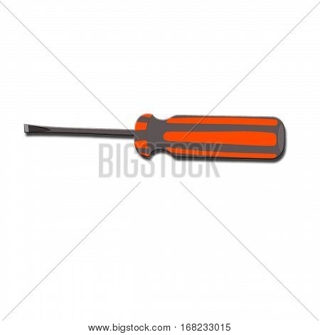 icon  with a screwdriver. Screwdriver gray, without background
