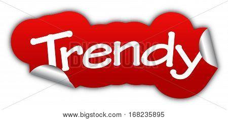 trendy sticker trendy red sticker trendy red vector sticker trendy trendy eps10 design trendy sign trendy